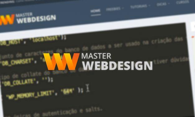 Lançamento do Site Master Webdesign