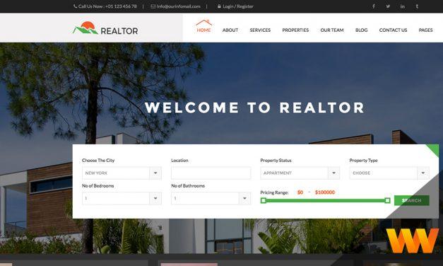 Tema WordPress para Imobiliárias